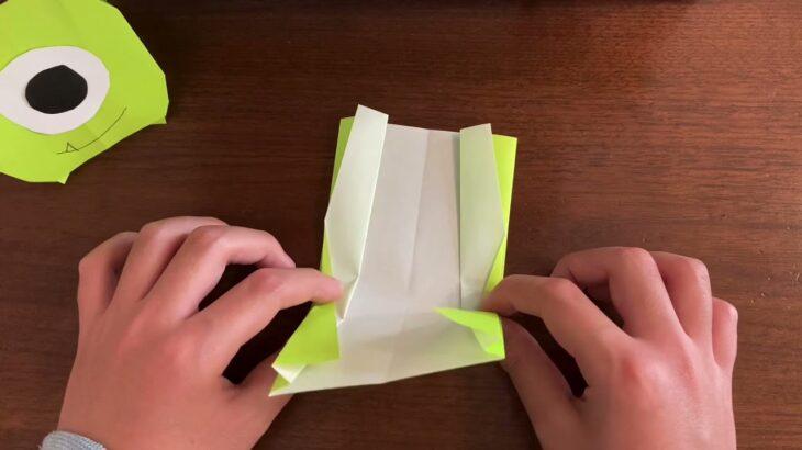 【ツムツム】折り紙(おりがみ) マイクの折り方(ディズニー)
