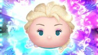 「ツムツム x Tsum Tsum 」沒有使用任何技能達到1000萬分~ ~~雪の女王エルサ Elsa Queen Elsa 艾莎女王