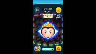 【ツムツム】苦手なツム☆彡女王&鏡☆彡フルアイテムでコイン稼ぎ&スコア