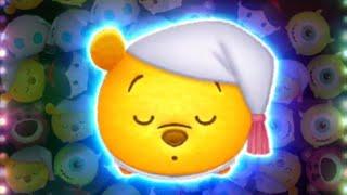 「ツムツム x Tsum Tsum」使用5變4技能達到1000萬分~~ おやすみプー  Winnie the Pooh Good Night Pooh 晚安維尼